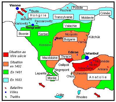 Empire ottoman - La carte de l empire ottoman ...